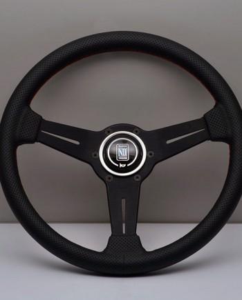 Nardi Classic 330мм перфорированная черная кожа